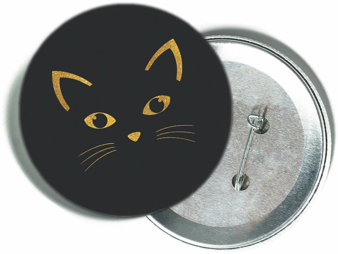 Przypinka Złoty kotek - 1 szt.