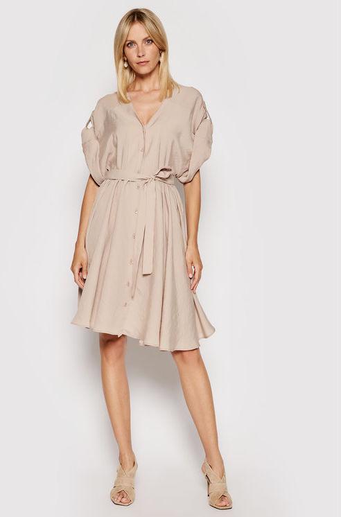 Imperial Sukienka koszulowa ABWVBHG Beżowy Regular Fit