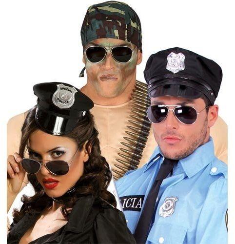 Okulary czarne policyjne - 1 szt.
