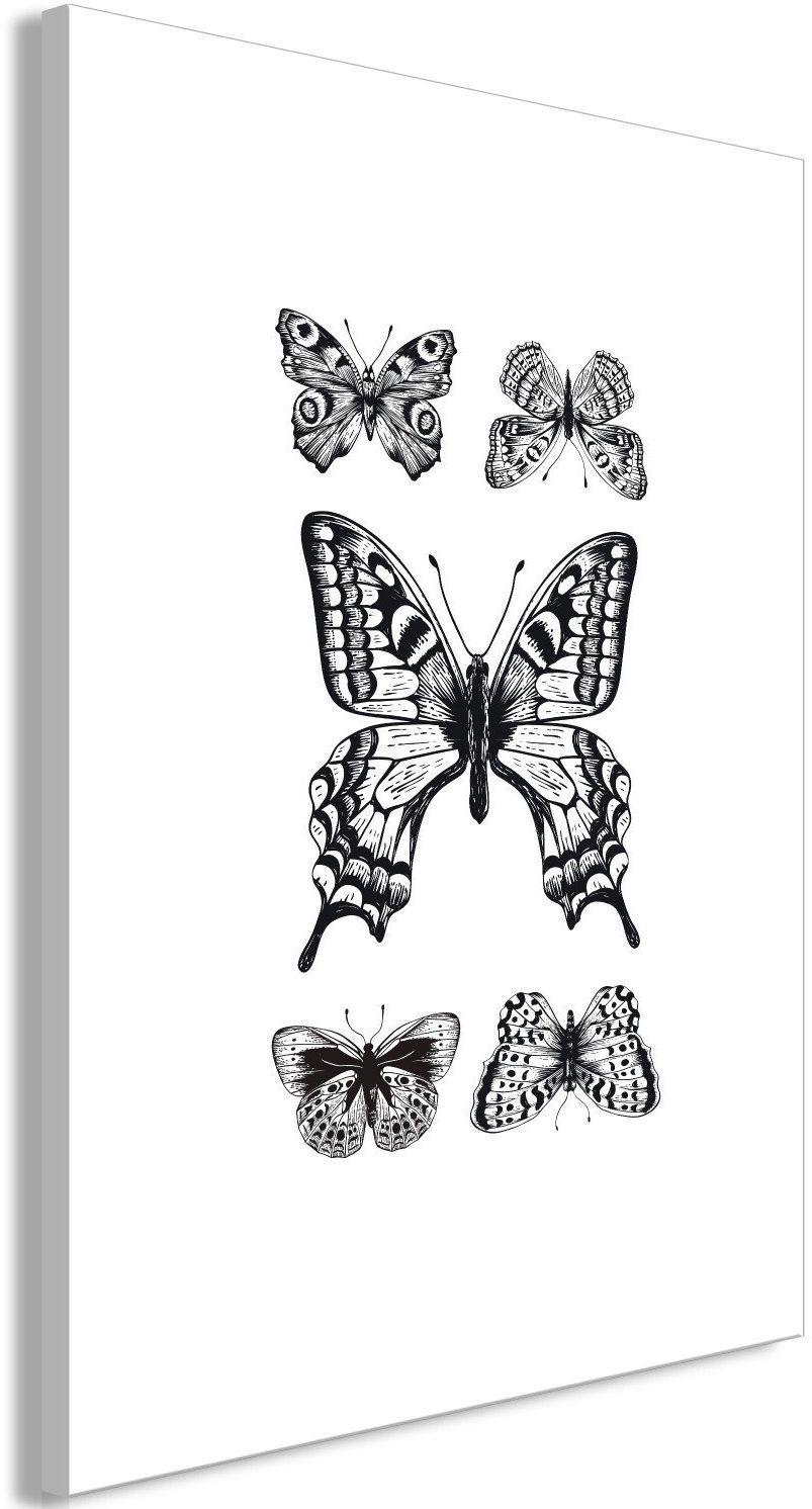 Obraz - pięć motyli (1-częściowy) pionowy