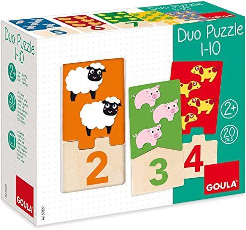 Goula Holzpuzzle Duo 1-10 - 20-teilig