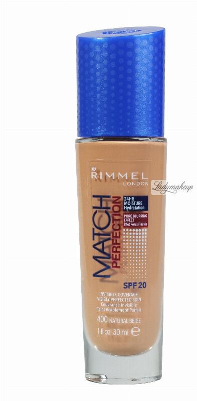 RIMMEL - MATCH PERFECTION FOUNDATION - Kryjący pokład do twarzy - 30 ml - 400 - NATURAL BEIGE