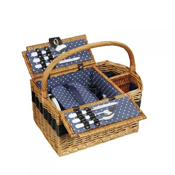 Cilio CERNOBBIO Kosz Piknikowy z Wyposażeniem dla 2 Osób