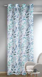 Albani Zasłona z oczkami/Mathilda / 245x135 cm, niebiesko-kolorowa