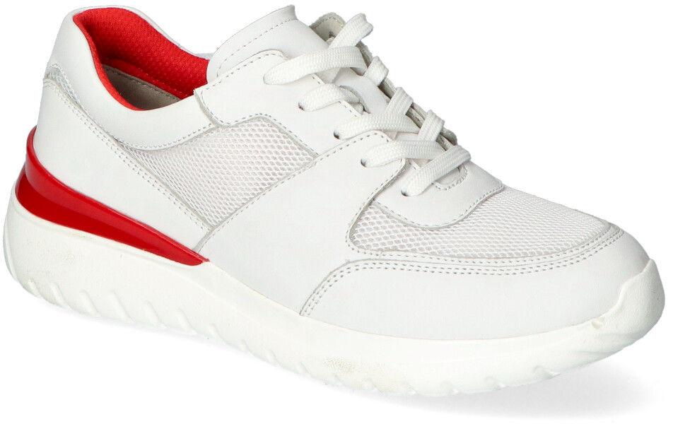 Sneakersy Caprice 9-23720-26 Białe+Czerwone lico