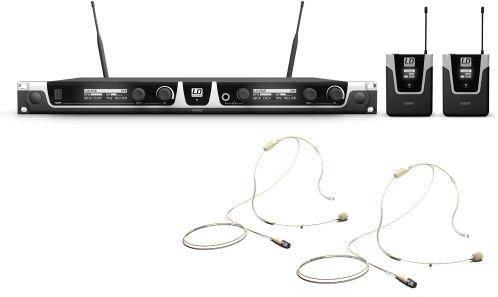 LD Systems U508 BPHH 2 mikrofon bezprzewodowy nagłowny, podwójny, kolor beżowy