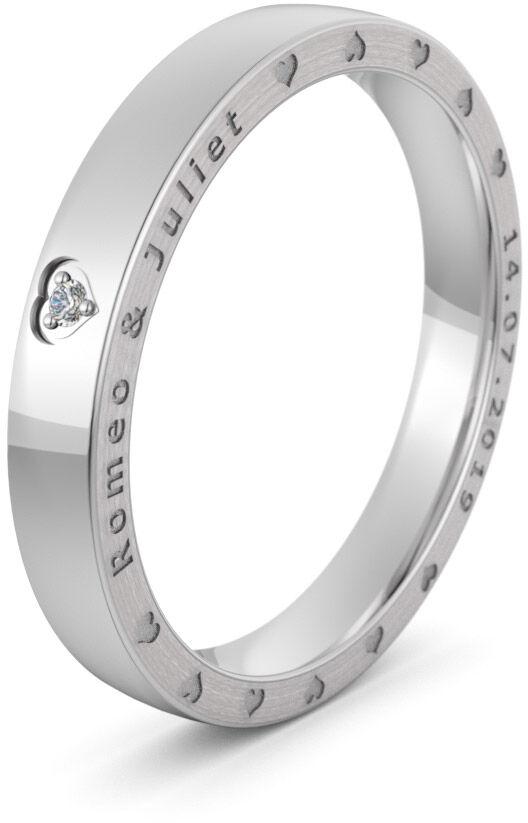 Pierścionek obrączkowy srebrny - Ag-576