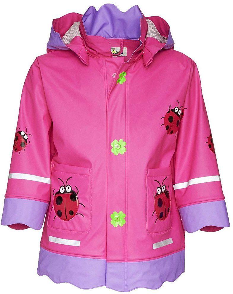 Płaszczyk Biedronka Playshoes - Różowy Poliestrowy Płaszczyk Dziecięcy - 408583 18