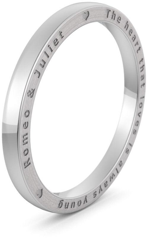 Pierścionek obrączkowy srebrny - Ag-577