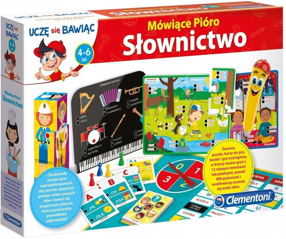 Clementoni - Mówiące Pióro Multigra Słownictwo 50654