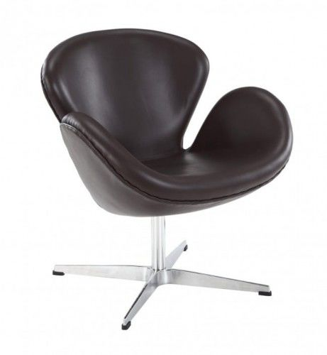 Fotel ŁABĘDŹ skóra naturalna - insp. proj. Swan Chair