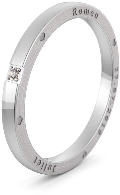 Pierścionek obrączkowy srebrny - Ag-578