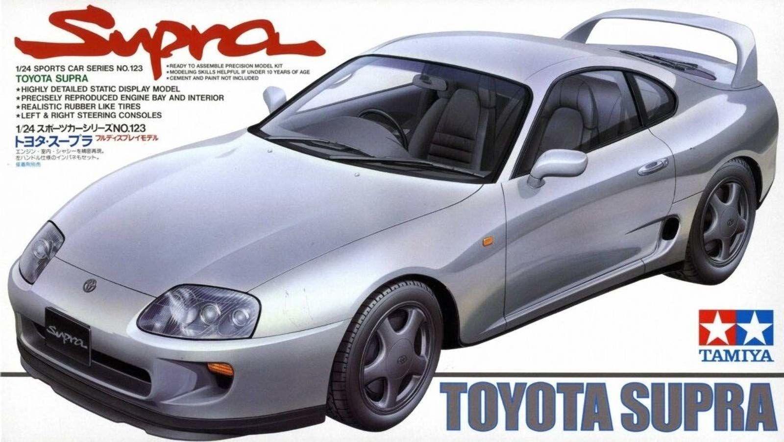 Tamiya Model do Sklejania Toyota Supra, Srebrny, od 14 lat , 300024123