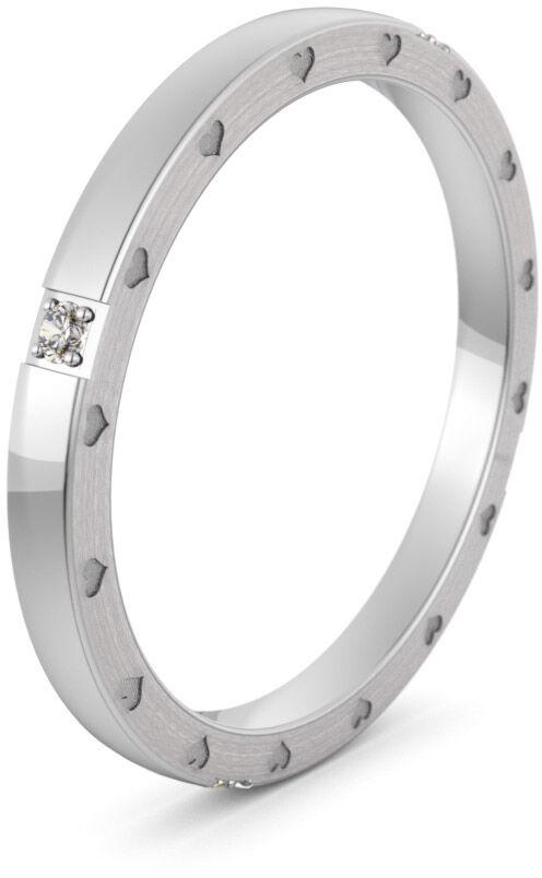 Pierścionek obrączkowy srebrny - Ag-580