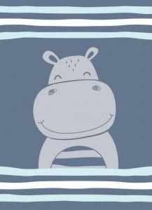 koc kocyk dla dzieci 80x110 hipopotam