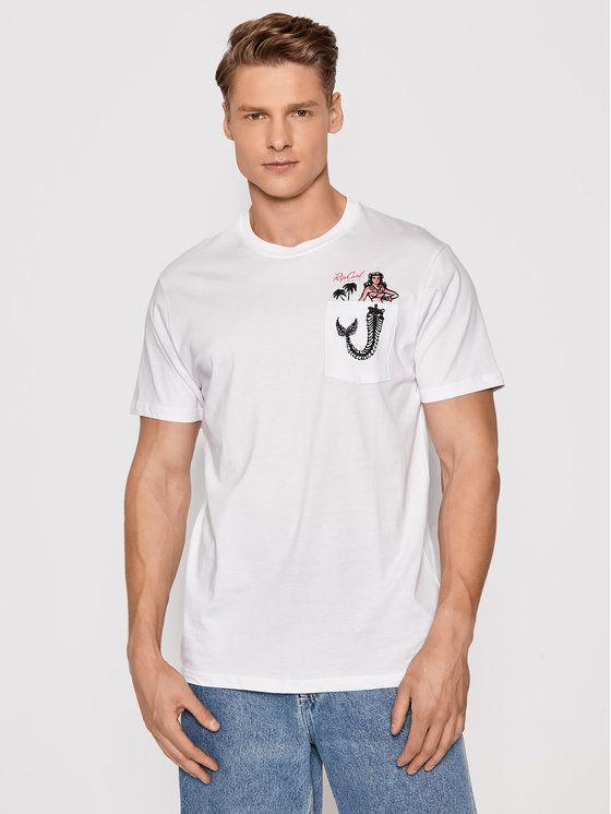 Rip Curl T-Shirt In Da Pocket CTESZ5 Biały Standard Fit