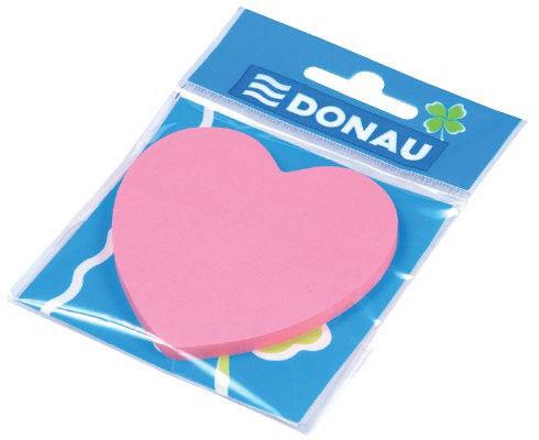 Bloczek samoprzylepny 50 kartek serduszko jasnoróżowy DONAU /7562001PL-16/