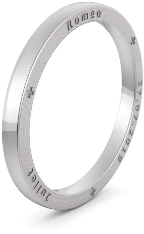 Pierścionek obrączkowy srebrny - Ag-583