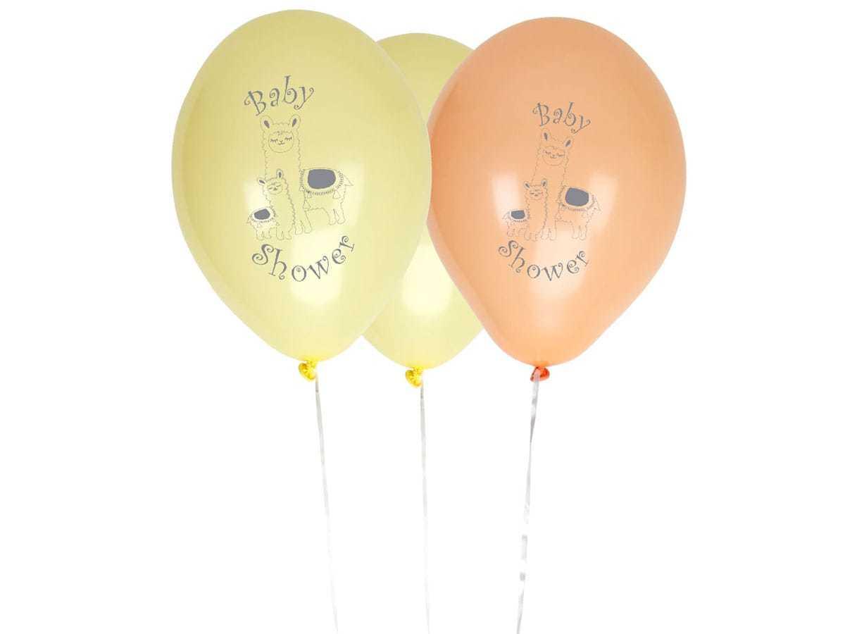 Balony lateksowe na baby shower Lama Love - 8 szt.