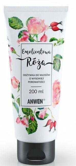 Anwen Odżywka do włosów o wysokiej porowatości Emolientowa Róża 200ml