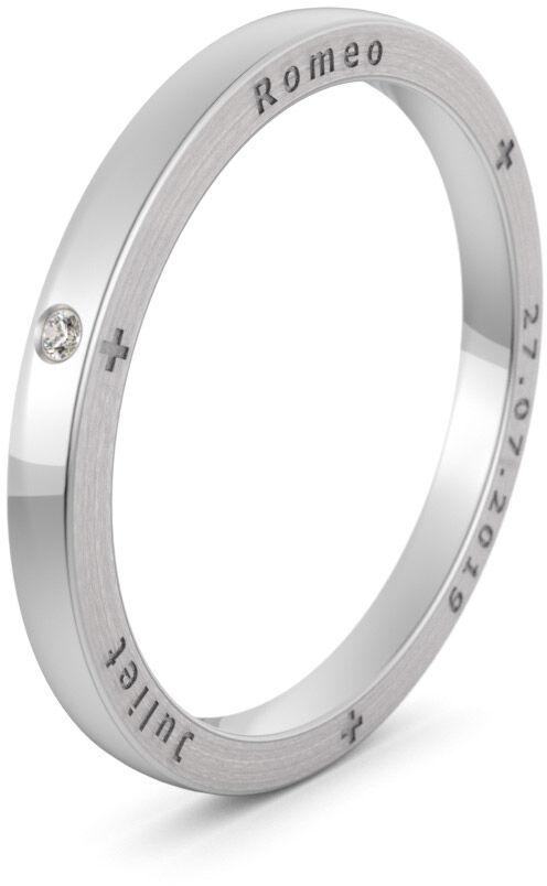 Pierścionek obrączkowy srebrny - Ag-584