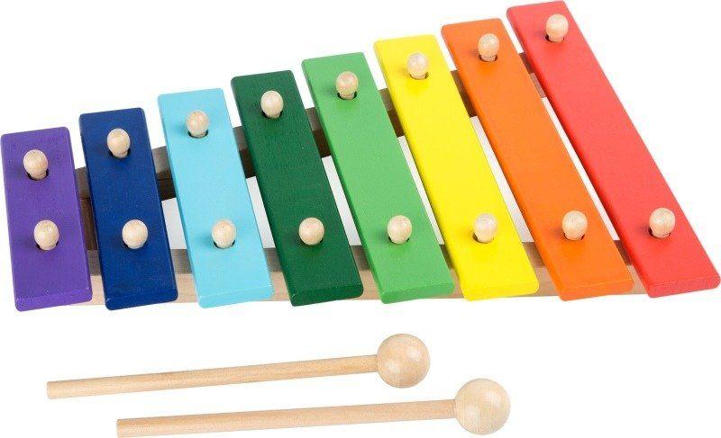 Tęczowe płotki, cymbałki dla dzieci, small foot design - instrumenty dla dzieci