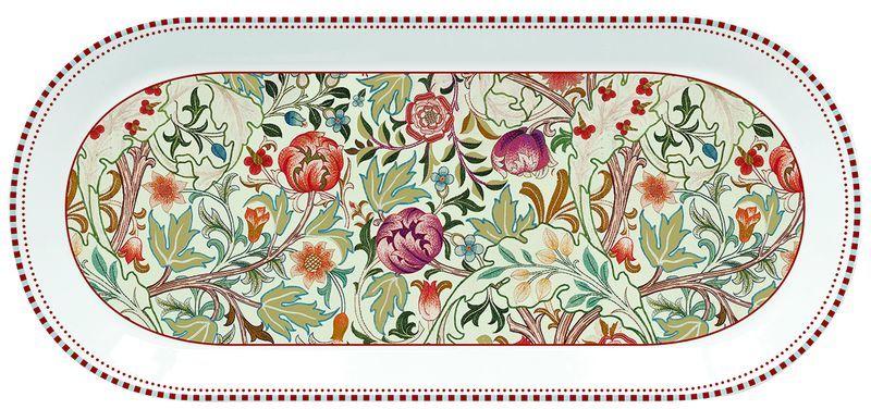 PORCELANOWY PÓŁMISEK DESEROWY William Morris Natural