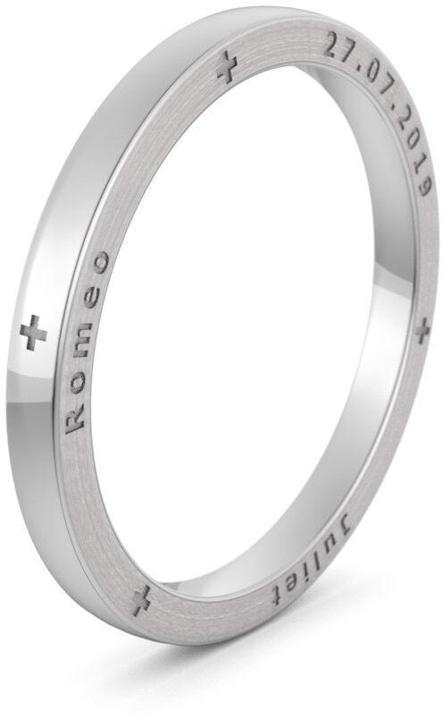 Pierścionek obrączkowy srebrny - Ag-585