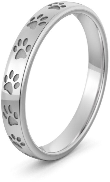Pierścionek obrączkowy srebrny z łapkami - Ag-586