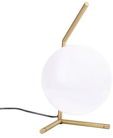 Lampa biurkowa/nocna HALM 1 - mosiądz, szkło