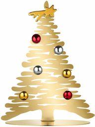 Alessi kora Bg06/30 Gd-Design ozdoba świąteczna ze stali Aisi 430, pozłacana magnesami w porcelanie, jeden rozmiar