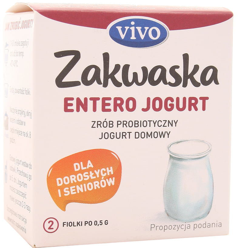 Zakwaska Entero jogurt żywe kultury bakterii Vivo - 2x0,5g