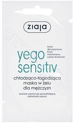 Ziaja Yego Sensitive Chłodząco- łagodząca maska w żelu dla mężczyzn 7ml