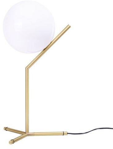 Lampa biurkowa/nocna HALM 2 - mosiądz, szkło