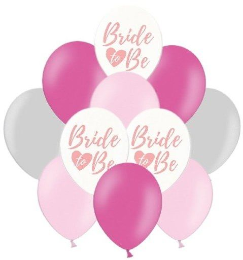 Balony na Wieczór Panieński różowe i srebrne 20 sztuk ZB22