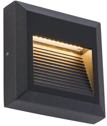 Lampa ścienna SIDEWALK SQUARE LED IP54 czarny