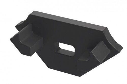 Zaślepka 1 sztuka do profilu narożnego Lumines typ C czarna z otworem