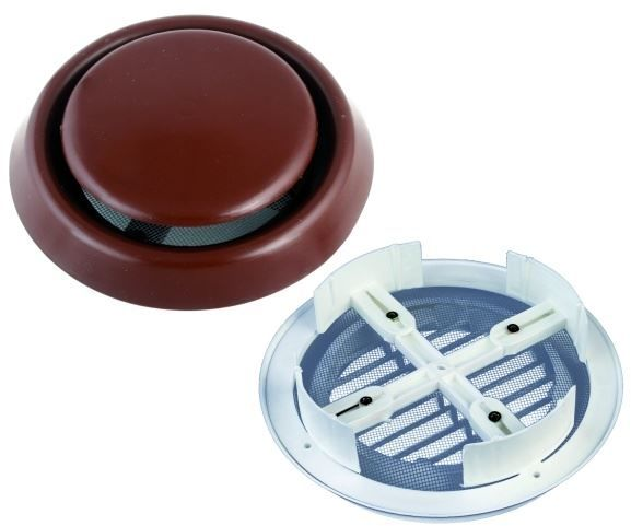 Kratka wentylacyjna okrągła regulowana pełna BIAŁA