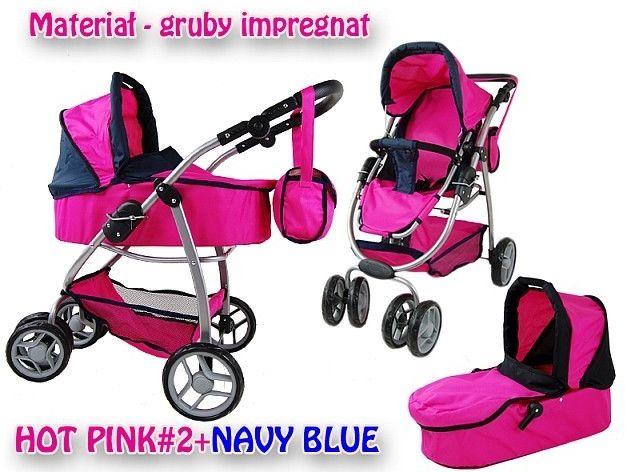 Wózek nowy dla lalek model 8 funkcyjny 9662
