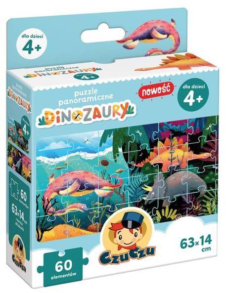 CzuCzu Puzzle panoramiczne Dinozaury 4+ - Bright Junior Media