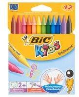 Kredki świecowe BIC Plastidecor 12 kolorów 945764