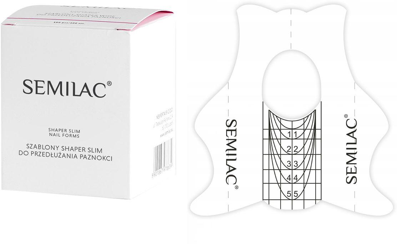 SEMILAC Shaper Slim 100szt. Szablony do przedłużania paznokci