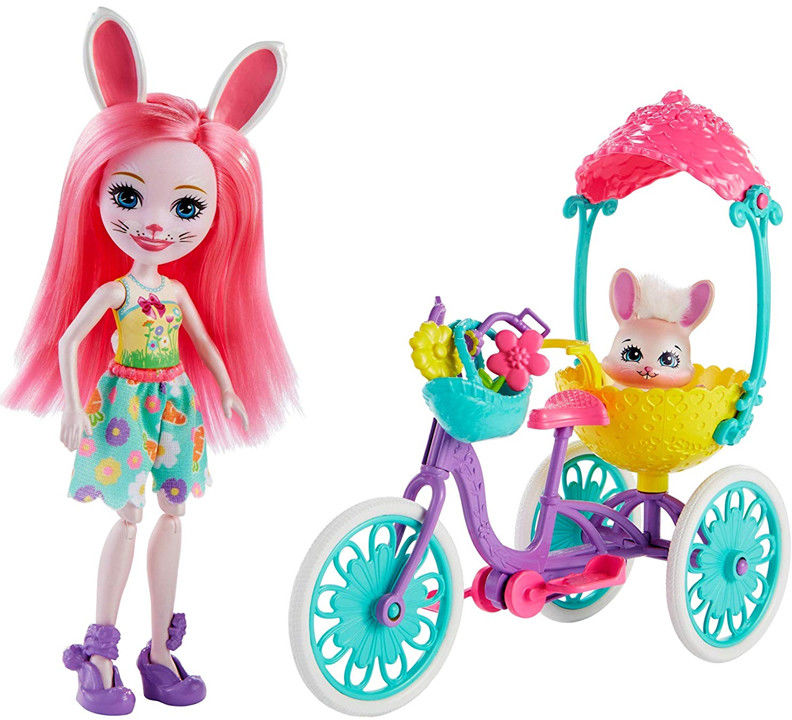 Enchantimals - Bree Bunny lalka na rowerze FVD82