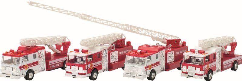 Samochód dla dzieci, Wóz strażacki z światłem, dźwiękiem i napędem, 12115-goki, zabawki dla chłopców