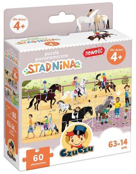 CzuCzu Puzzle panoramiczne Stadnina 4+ - Bright Junior Media