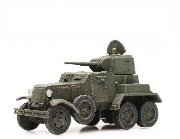 Radziecki Samochód Pancerny BA 10 Gotowy Model H0 Artitec