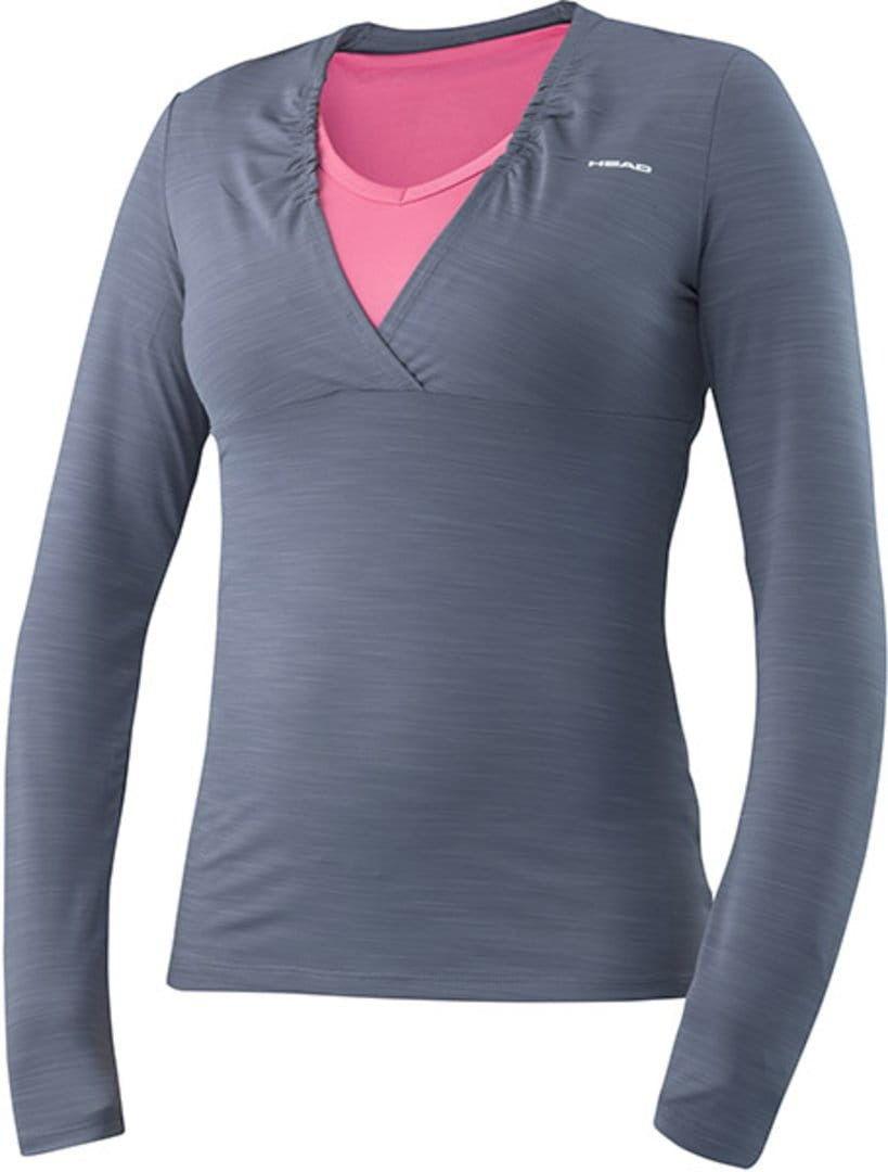 Head Transition W T4S LS Shirt - dark melange