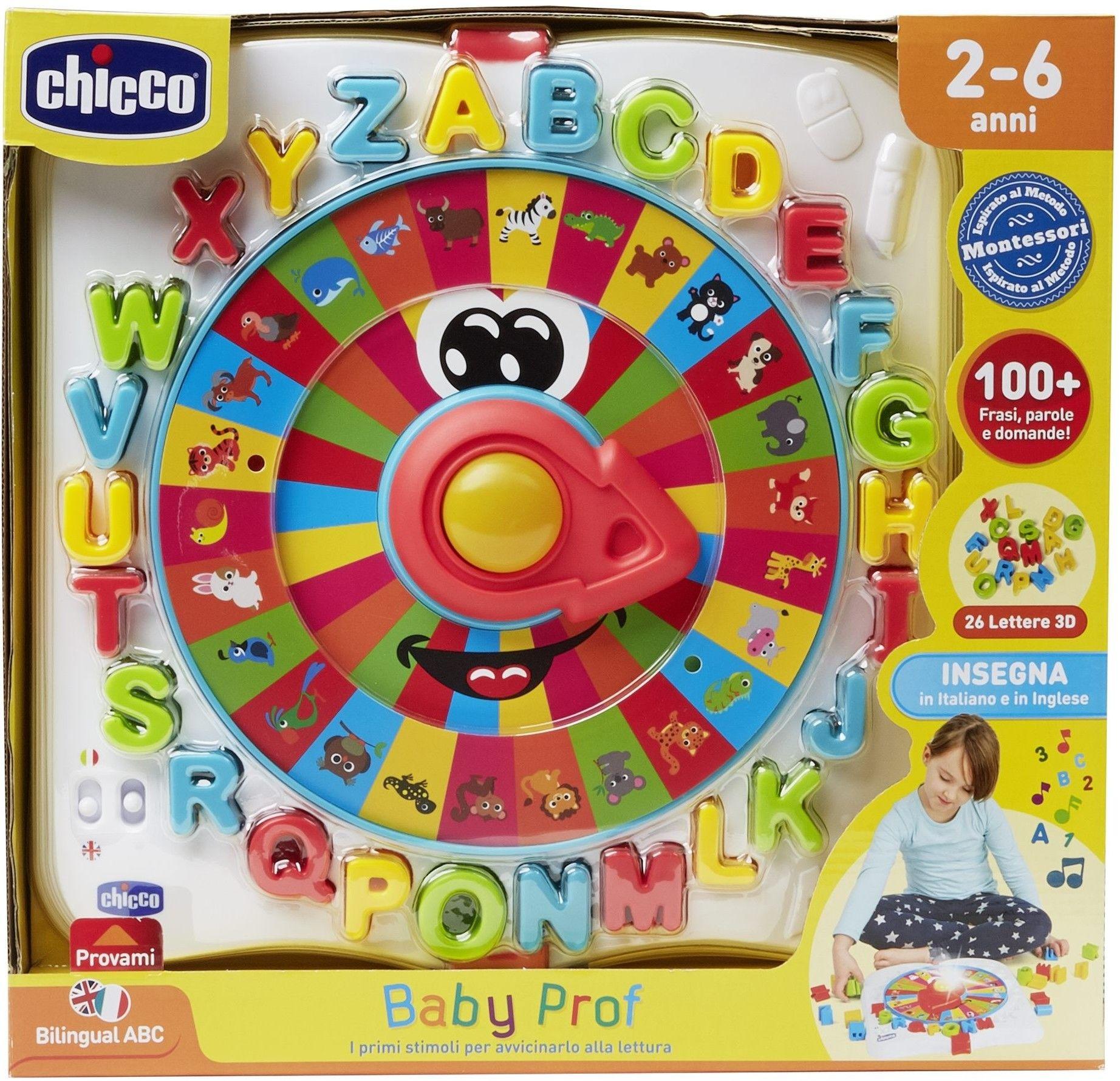 CHICCO Baby Prof Zabawka językowa litery Montessori