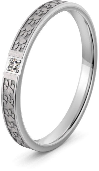 Pierścionek obrączkowy srebrny z łapkami - Ag-595