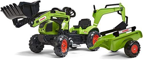 Falk  2040N  zabawka outdoorowa  ładowarka do koparki Claas Arion 410 + zawieszka + szufla do koparki